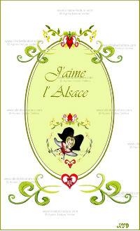 Carte double - Alsace réf 12a