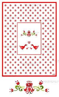 Carte double - Alsace réf 13a