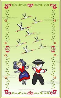 Carte double - Alsace réf 14a