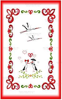 Carte double - Alsace réf 15a